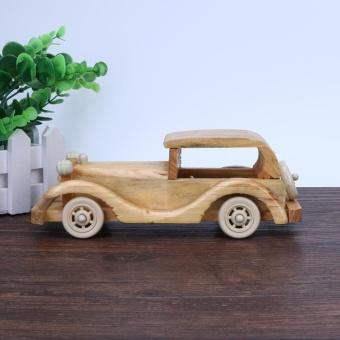 Creative Retro Wooden Classic Car Model Children Toys Crafts Decoration - intl - 3