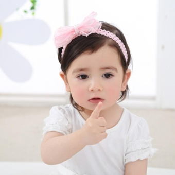 Cute Newborn Baby Girls Headband Bowknot Girls Headwear Headdress - intl - 2