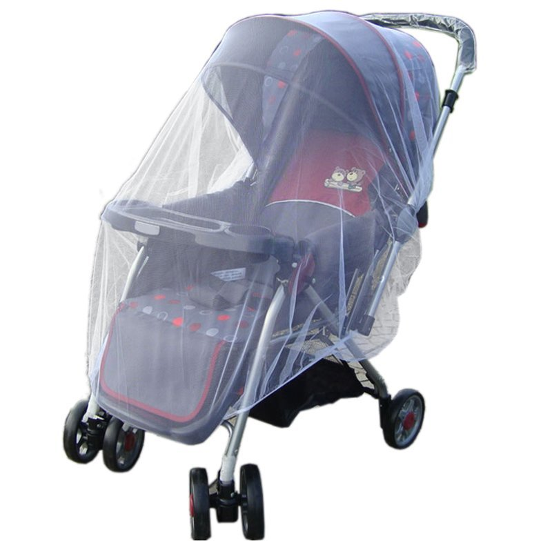 Cyber Infants Baby Stroller Pushchair Mosquito Insect Net Safe Mesh Buggy Strollers Cover (White) Singapore