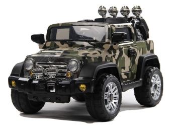 electric ride on car jeep camouflage