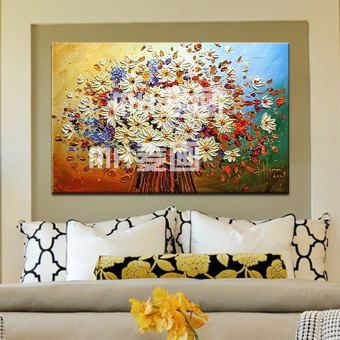 European And American Modern Pure Hand Oil Painting Bedroom Living Room  Decorative Painting Frame Painting Restaurant Part 66