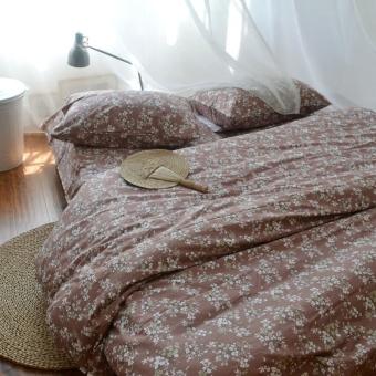 Floral pastoral cotton twill linen Quilt Cover
