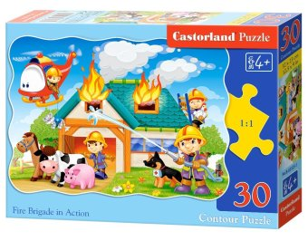 Harga Castorland ingenuity Poland imported children's puzzle 30 piece kitten rescue series boy girl toys