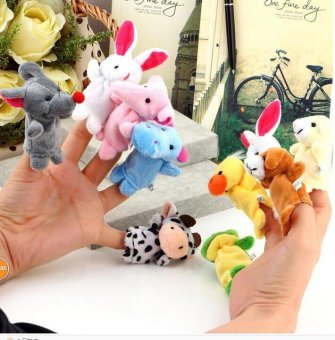 Harga 10x Cartoon Animal Finger Puppet Biological Animal Finger Puppet - intl