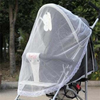 Harga Cute Infants Baby Stroller Pushchair Buggy Mosquito Insect Net Safe Mesh - intl