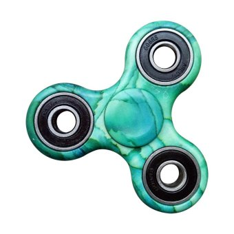 Harga Fidget Spinner Triangle Single Finger Decompression Gyro Green - intl
