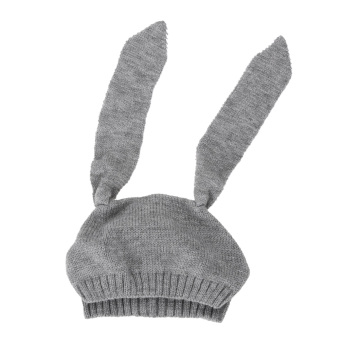 Winter Baby Rabbit Ears Knitted Hat Toddler Kids Wool Cap For Children 0-3Y - 4