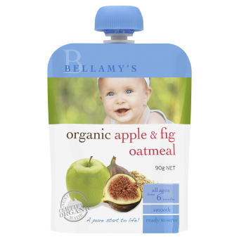 Harga Bellamy's Organic Organic Apple & Fig Oatmeal