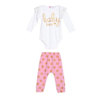 Harga Baby Girls Princess lace Cuff Tops Golden Dots Pants Clothes Outfit - intl