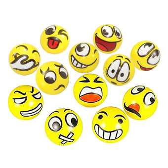 Harga Vakind 12PCs Emotional Face Squeeze Balls Stress Relax Toy - intl