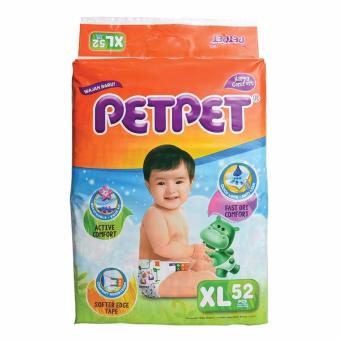 Harga PETPET HALO Mega Pack Baby Diapers XL52's x 3 Packs