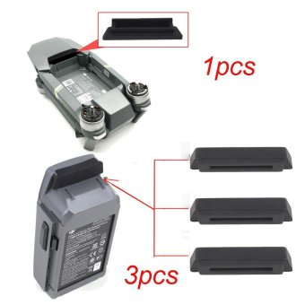 Harga 1PC For Frame 3PC For Dustproof Plug Cover For DJI Mavic PRO Black - intl