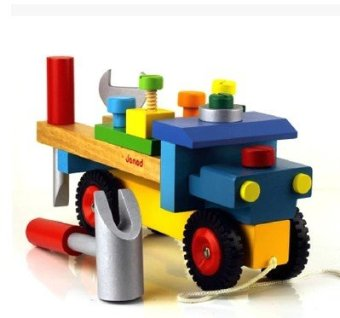 Harga Janod boys wooden construction vehicle