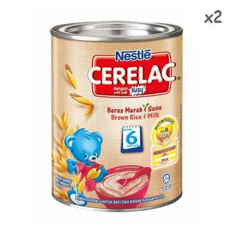 Harga Nestle Cerelac Brown Rice and Milk 350g x 2 tins