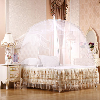 Harga New Yurt Netting Bed Mosquito Net Sleeping With Zipper Double Door White 150*200cm