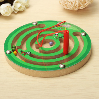 Baby Child Kids Puzzle Magnet Beads Slot Maze Board Game Educational Toys Gift - intl - 2