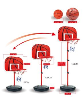 Height Adjustable Kids Mimi Basketball Hoop Rim Net Set Backboard Basket Ball(Export)