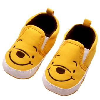Harga Baby Boy Girls Shoes Kids First Walkers Cute Yellow Bear 0-12 months Yellow S
