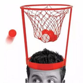 Harga YingWei Head Basketball Toy Plastic Basket Parent Child Interactive Toy (Red) - intl