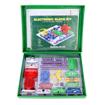 Harga Excelvan W-335 Snap circuits Electronics Discovery Kit Science Educational Toy