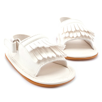 Harga Baby Tassel Layer Soft Sole Sandal White (EXPORT)