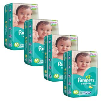 Harga Pampers Baby Dry Diapers M52's (6-11kg) x 4 Packs