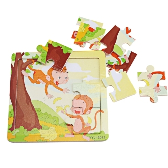 Harga Baby Wooden Cartoon Animal Puzzle Educational Toy