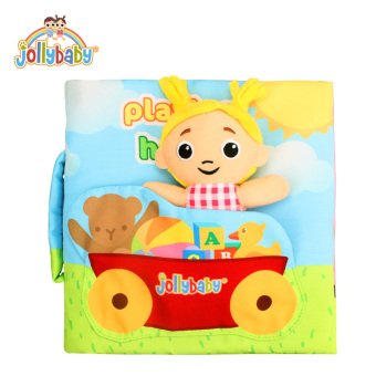 Jollybaby1 months old baby three-dimensional cloth book early childhood educational baby toys touch book tear rotten