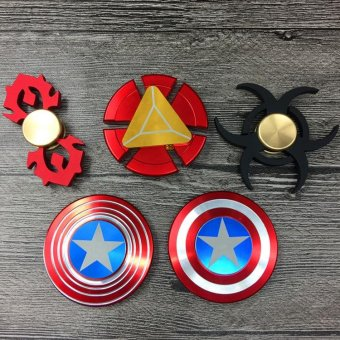 Harga FG15A Comics Toy Fidget Spinner Iron Man Hand Spinner Finger tips Gyro Alloy Finger Spinner - intl