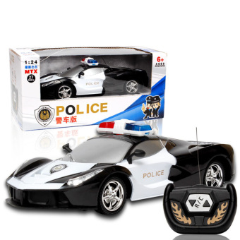 Harga Mini 1:24 RC Radio Remote Control Race Racing Car Toy For Kids(Police car) - intl