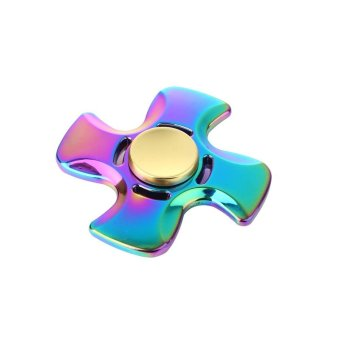 Harga Rainbow EDC Hand Spinner Tri Fidget Focus Desk Toys Stocking Stuffer Kids/ Multicolor - intl