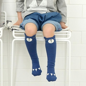 Harga 0-4Y Baby/ Kids Knee High Long Socks A3251L4 S