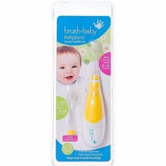 Harga BrushBaby Baby Sonic Electric Toothbrush 0-3 Years