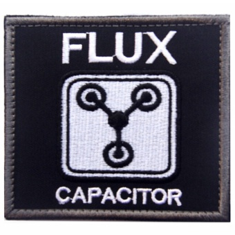 Harga Flux capacitor is Will to future action tactical 3D embroidery magic stickers Cool armband badge patch backpack stickers