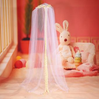 Harga Hanging Round Dome Bed Baby Crib Mosquito Net (Yellow) - intl
