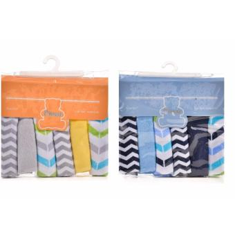 Harga Owen 6 Piece Knit Washcloths - Blue and Yellow