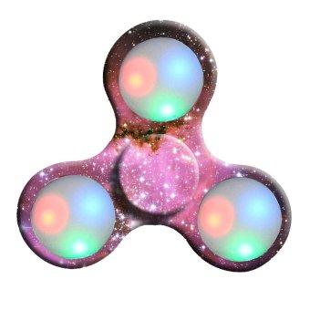 LED Light Hand Spinner Fidget Toys Finger Ball For Autism ADHD Multicolor - intl - 2