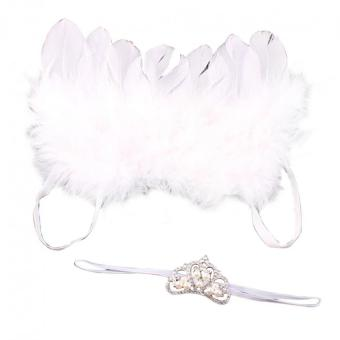 Baby Girls Angel Wings Wing Set Feather Newborn Photography Props