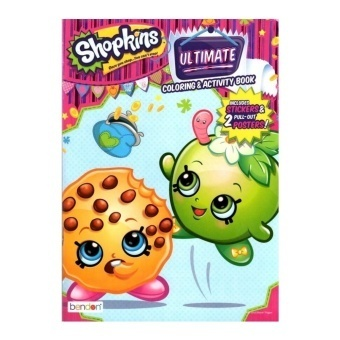 Harga Shopkins Ultimate Colouring & Activity Book Includes Stickers & 2 Posters - intl