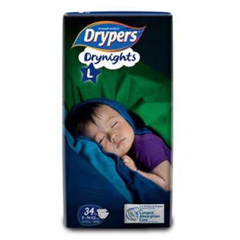 Harga Drypers Drynights Diapers 9-14kg L 34S x 4 (136pcs)