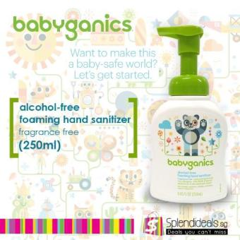 Harga Babyganics Alcohol Free Fragrance Free Foaming Hand Sanitizer 250ml x 3 Bottles - 0050