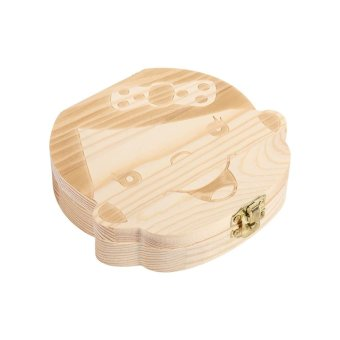Harga New Milk Teeth Wooden Tooth Storage Box For Kids Baby Save 3-6YEARS Creative (Girl English) - intl