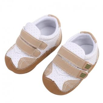Harga Infant Soft Sole Crib Shoes (Grey)