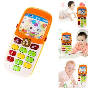 Harga WangWang Store Music Baby Phone Keypad Phone Toy Early Educational Visual Hearing Training Toy Random Color - intl
