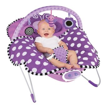 Harga Sassy® SS70019 Cuddle Bug Bouncer (Violet Butterfly)