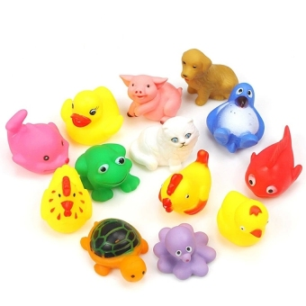 Lemon 13Pcs Animals Baby &Amp; Toddler Bath Toy - intl