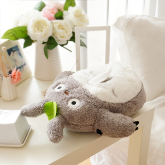 Harga Lovely cartoon plush toy Anime gray Totoro stuffed doll soft tissue box cover case home decoration creative gift 1pc - intl