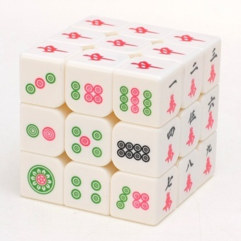 Harga 3x3x3 Magic Cube Z - the third order white cube mahjong mahjong mahjong rubik's cube rubik's cube racing puzzle leisure manufacturers selling(Neutral) - Intl