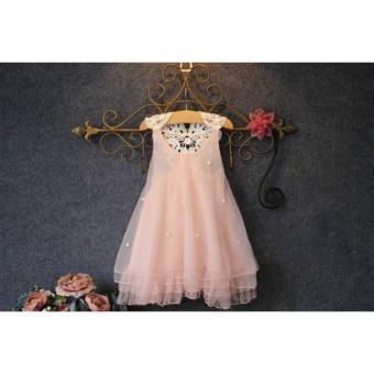 Harga Fashion kids clothes Flower Girl Spring Summer Princess Dress Kid Baby Formal Party Wedding Lace Tulle Tutu Dresses - intl
