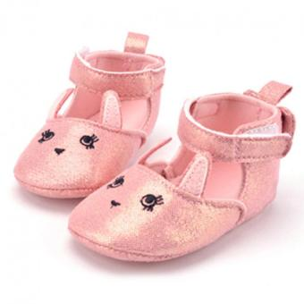 Harga Baby Girl Soft Sole Sequins Princess Shoes (Pink)
